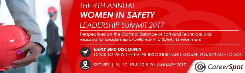 The 4th Women in Safety Leadership Summit 2017
